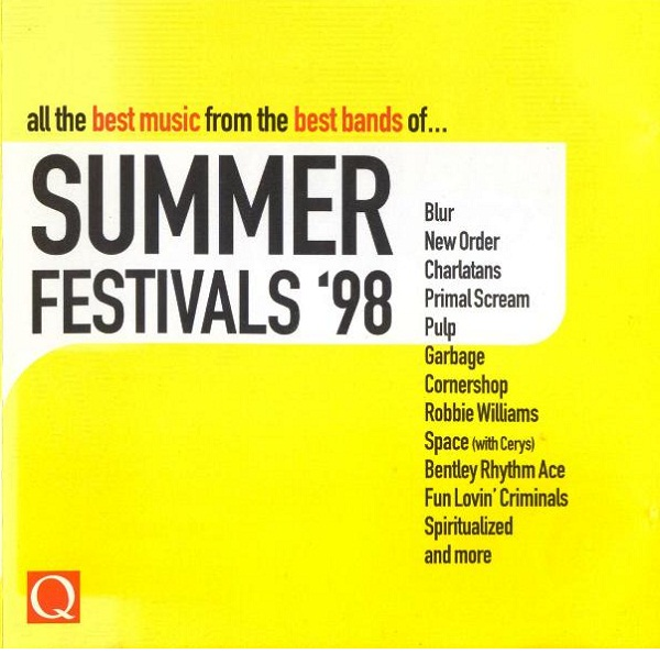 Image result for q magazine summer festivals 98 cd