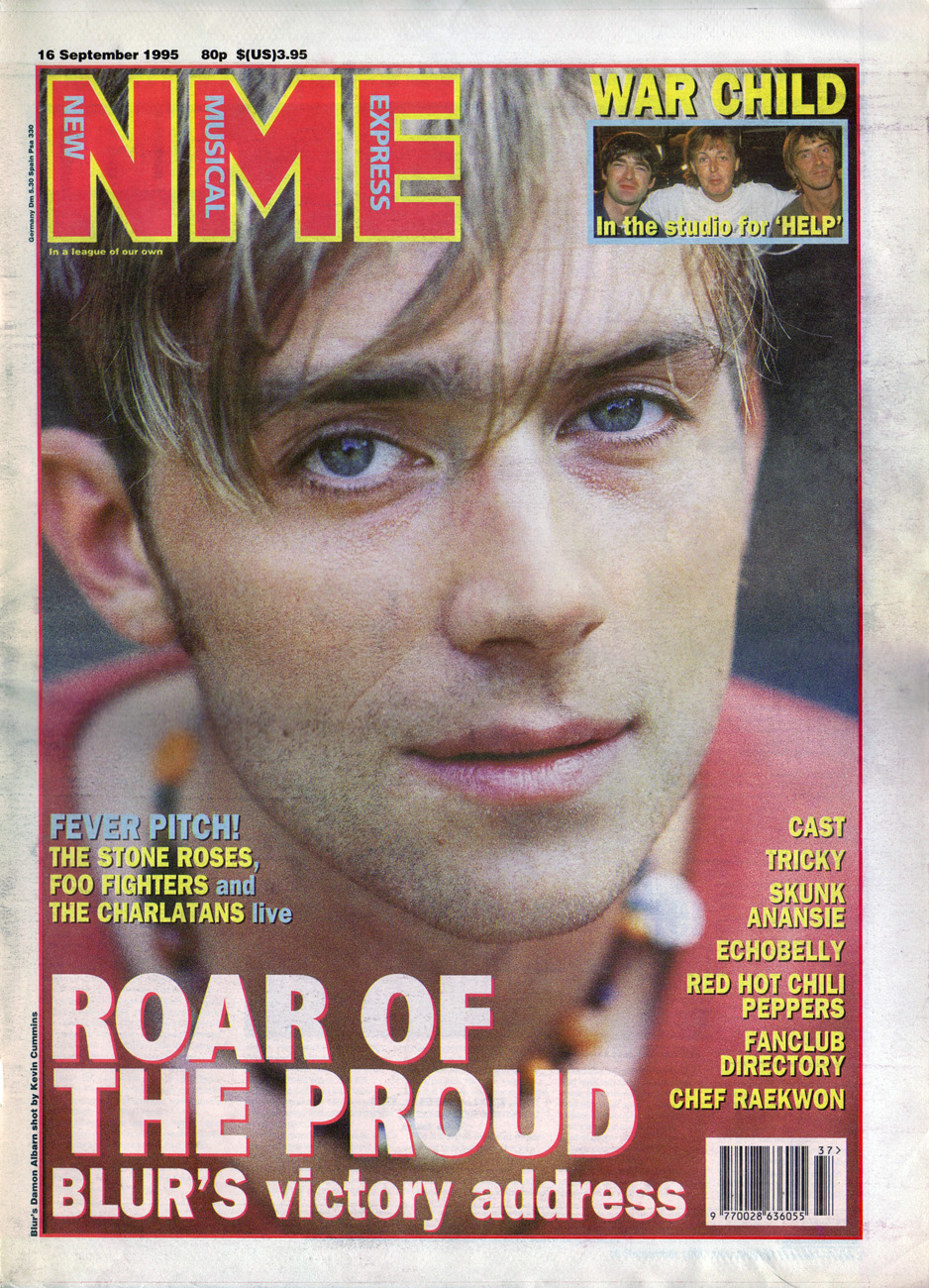 nme magazine cover. NME 16 Sep 1995