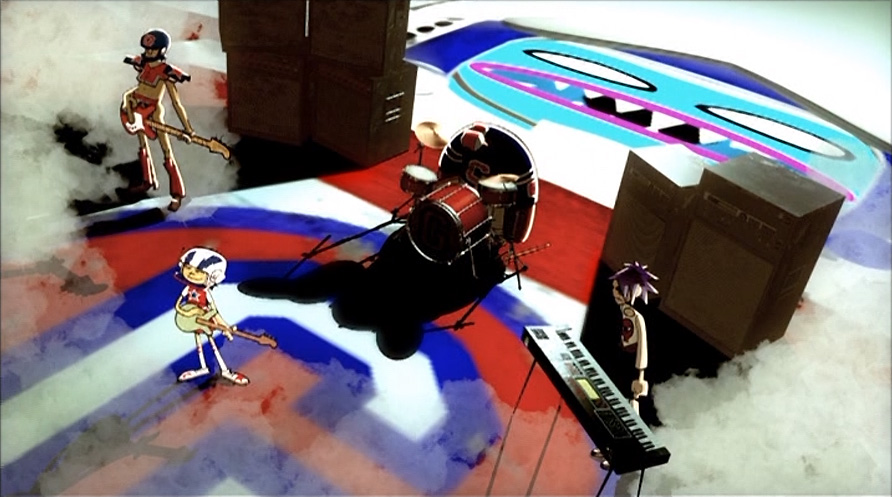 Gorillaz Rock The House Promo Video Pictures