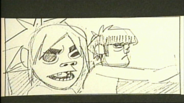 Home gt pictures gt gorillaz promo videos gt 19 2000 storyboard